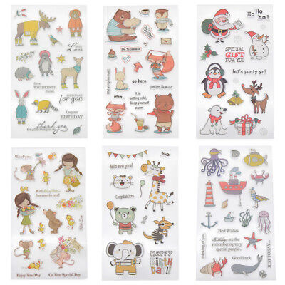 Christmas Transparent Clear Silicone Stamps DIY Scrapbooking Card Deco Paper Art