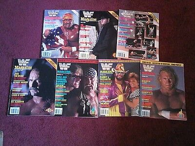 WWE WWF Magazine 1991 Bundle lot x 7 Issues