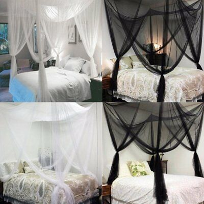 Super Size Four Corner Square Mosquito Net Bed Canopy Set Bedroom Decoration HK