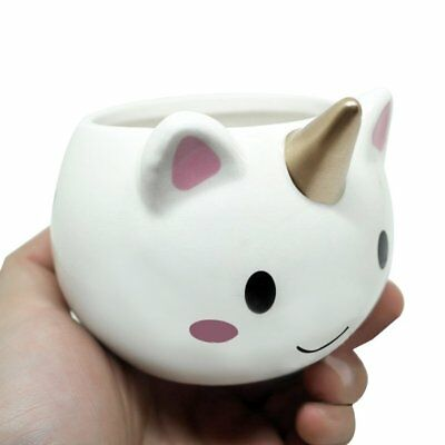 Cute Unicorn-shaped Mug 3D Ceramic Coffee Cup for Home Office Unique Gift HK