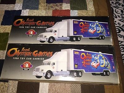 Vintage Texco Izzys Olympic Games 1996 Toy Car Carrier Lot Of 2