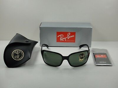 Ray-Ban Women Sunglasses Rb4068 601 Black Frame/green Classic Lens 60Mm