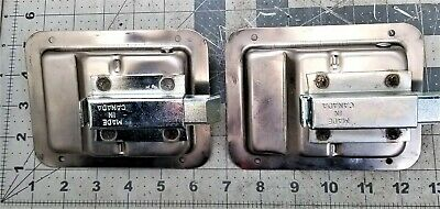 (2) Trailer Paddle Door Lock Latch Handle Stainless Steel RV Truck Tool Box[A1F