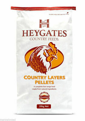 20kg HEYGATES Country Feeds Complete Poultry/Chicken/Hens Layers Pellets