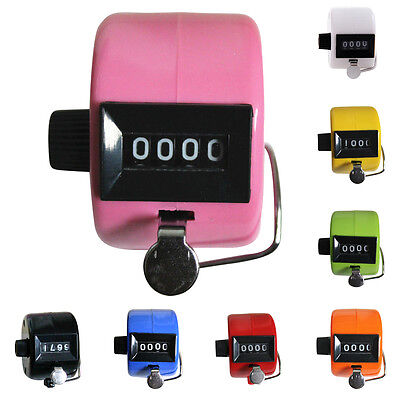 4-Digit Number Manual Handheld Digit Tally Mechanical Palm Clicker Counter FL