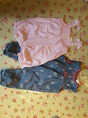 Lovely romper bundle 3-6 months girl mini club 1 new 1 once worn