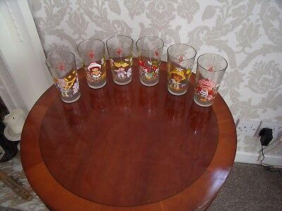 """strawberry Shortcake"" Set Of 6 Glasses-All Different..4 And A Half Inches High."