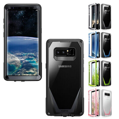 Case For Galaxy Note 8 (2017) 4 Color Poetic【Guardian】360 Degree Protection Case