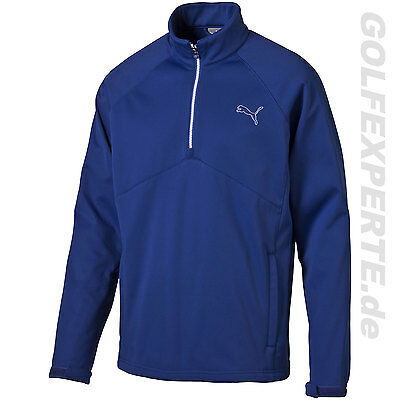 PUMA GOLF hommes chaud STORM 1/2 ZIP Thermal POPOVER Sodalite Bleu pour froid