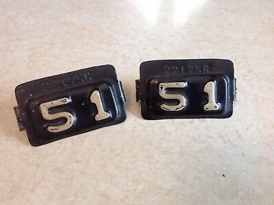 1951 Maryland license plate tabs (MATCHING SET)