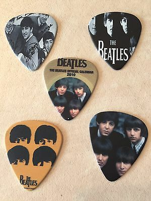 The Beatles 5 Guitar Picks Lot Collection!
