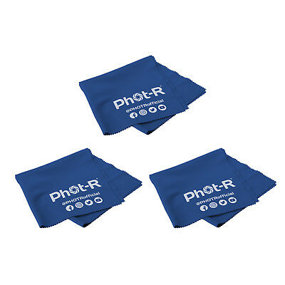 PhotR 3x Microfibre Optical Camera Lens Cleaning Cloth Glasses Smartphone Tablet
