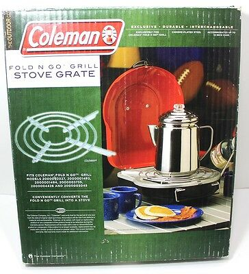 Coleman Fold N Go Grill STOVE GRATE Chrome Plated Steel New