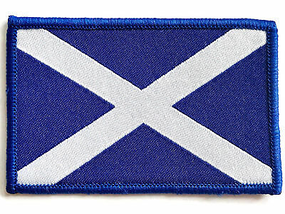 ST ANDREWS CROSS CLOTH PATCH sew on Scots flag badge Scotland blue white Saltire
