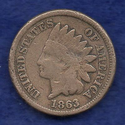 USA, 1863 Indian Head Cent (Ref. c6035)