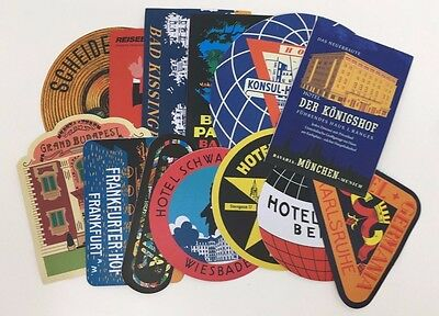 GERMANY - 7 Asst REPRO Vintage Italian Travel Hotel Labels DECALS Stickers NEW