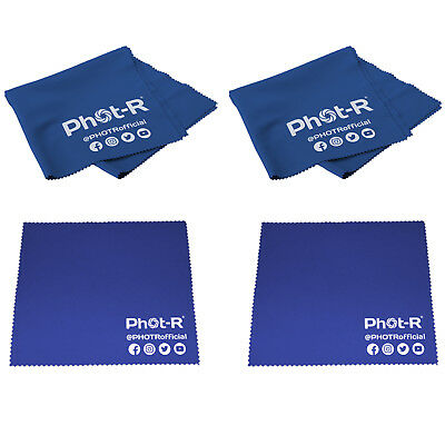 4x Microfibre & Chamois Optical Camera Lens Cleaning Cloth Glasses Phone Tablet