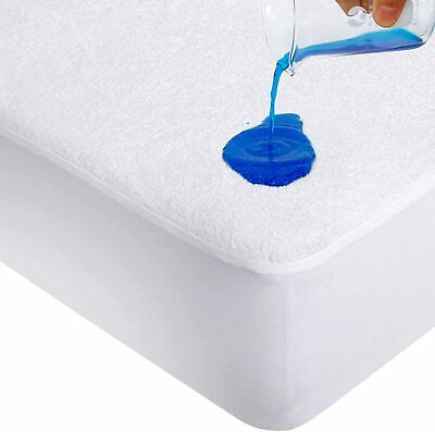 Terry Cotton Waterproof Mattress Protector Fitted Sheet, 65x95cm,( Travel Cot)