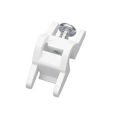 Integra White PVC Monorail/Decorail End Stop (Pack of 2)