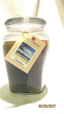 Home Interiors Ginger Jar Scented Candle Coastline Green