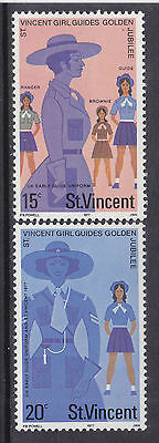 St. Vincent, Scouting, Girl Guides - Scouts, Mnh Stamps, Lot - 12