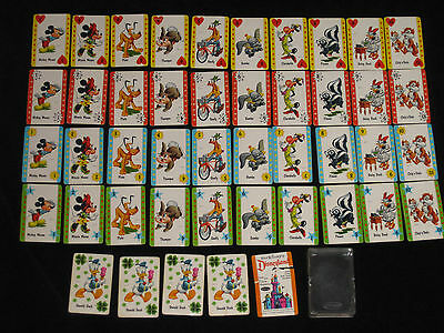 Vintage Walt Disney Characters Memory Childrens Card Game 1964 - COMPLETE