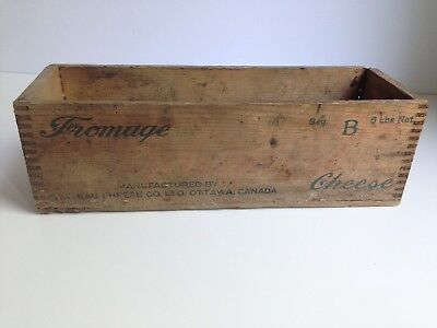 Vintage BAUMERT Wooden Cheese Box Dovetail Box Antique