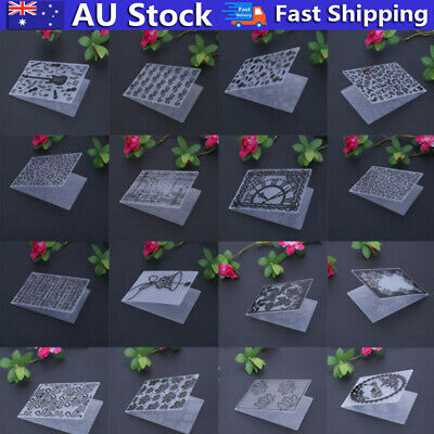 Plastic DIY Embossing Folder Template Die Cutting Scrapbooking Album Card Card