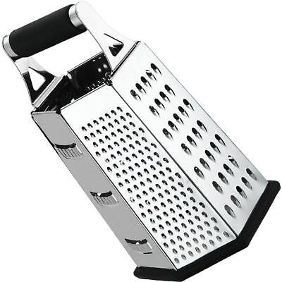 Cheese-Grater-Vegetable-Slicer Stainless Steel - 6-sides , 9.5 Inch Height,...
