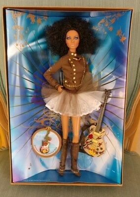 Barbie 2007 NRFB Hard Rock Cafe AA African American VHTF Gold Label Doll