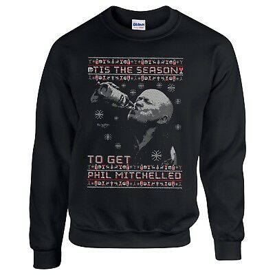 Funny 'Get Phil Mitchelled' Phil Mitchell Eastenders Christmas Party Jumper