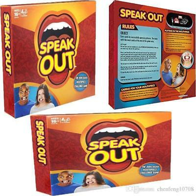 Brand Speak Out Game Board Party Game Speak Up Mouth Piece Challenge Game