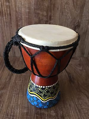 Djembe Small Painted Bongo Percussion Hand Drum