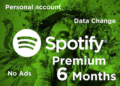 Spotify Premium 6 Months (Personal Account) WORLDWIDE • Fast Digital Delivery •