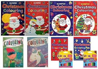 A4 CHRISTMAS COLOURING BOOK  Stocking Filler Christmas Eve Boxes