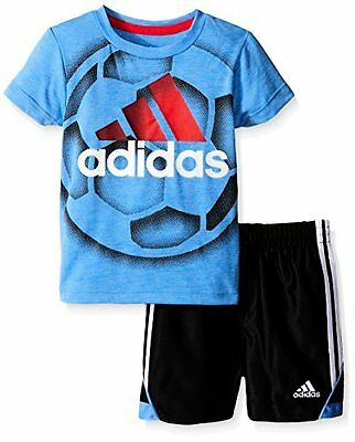 Adidas Boys 2-7 AG5801 adidas Baby Tee and Active Short Set- Choose SZ/Color.