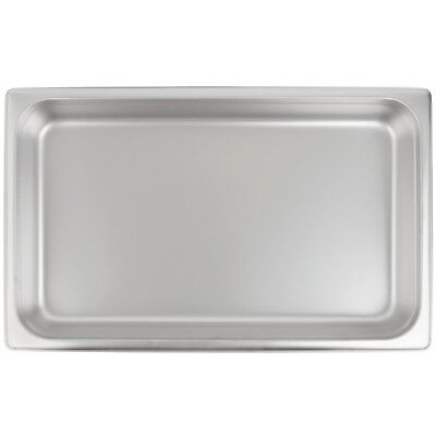 "Stainless Steel Steam Table / Hotel Pan - 2 1/2"" Deep 20"" x 12"" Full Size"