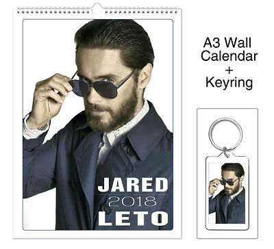 30 Seconds To Mars Jared Leto 2018 Wall Holiday Calendar + Keyring