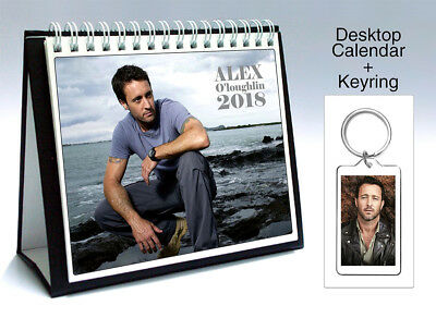 Alex O'Loughlin 2018 Desktop Holiday Calendar + Keyring