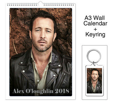 Alex O'Loughlin 2018 Wall Holiday Calendar + Keyring