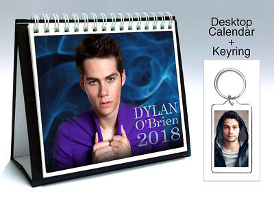 Dylan O'Brien Maze Runner Teen Wolf 2018 Desktop Holiday Calendar + Keyring