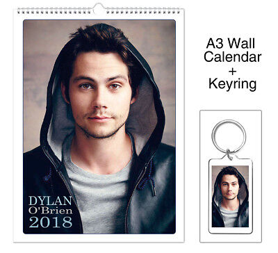 Dylan O'Brien Maze Runner Teen Wolf 2018 Wall Holiday Calendar + Keyring