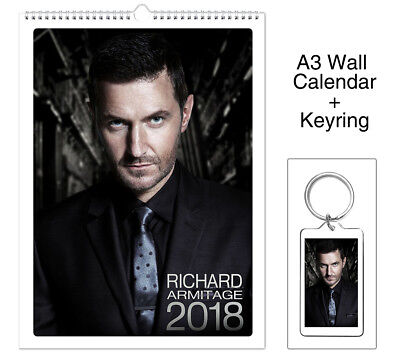 Richard Armitage Strike Back John Porter 2018 Wall Holiday Calendar + Keyring