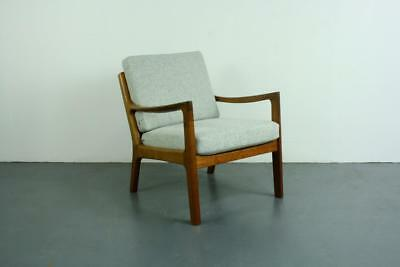 Ole Wanscher Midcentury Lounge Chair France & Son Denmark Vintage Grey Moon#2118