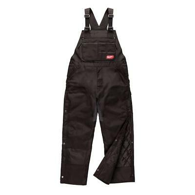Milwaukee 261B-SR (Small, Regular) Black GridIron Zip-To-Thigh Bib Overall