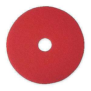 3M Non-Woven Polyester Fiber Buffing and Cleaning Pad,17 In,Red,PK5, 5100, Red