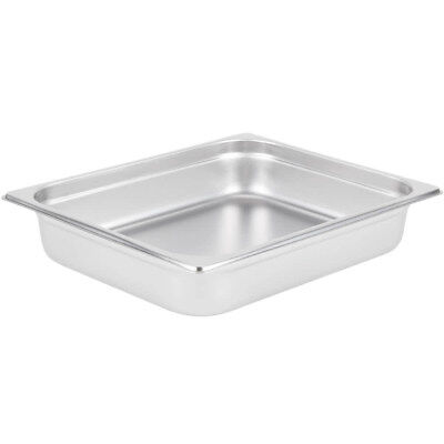 "Stainless Steel Steam Pan 2 1/2"" Deep Half Size: 10"" x 12"""