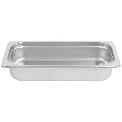 """Stainless Steel Steam Pan 2 1/2"""" Deep 1/3 Size: 12 3/4"""" x 7"""""""