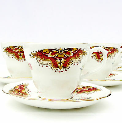 Vintage Duchess 394 Bone China Floral Tea Set 4 Cups Saucers