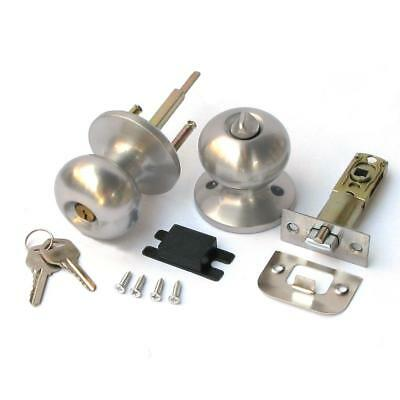Stainless Keyed Entry Rotation Biscuit Type Door Knobs Handle Entrance Lock